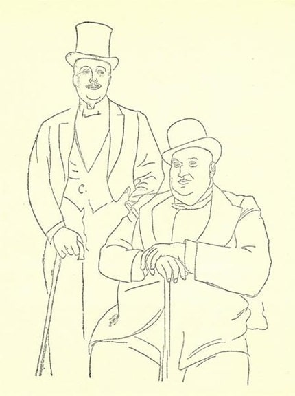 Portrait of Diaghilev and Seligsberg