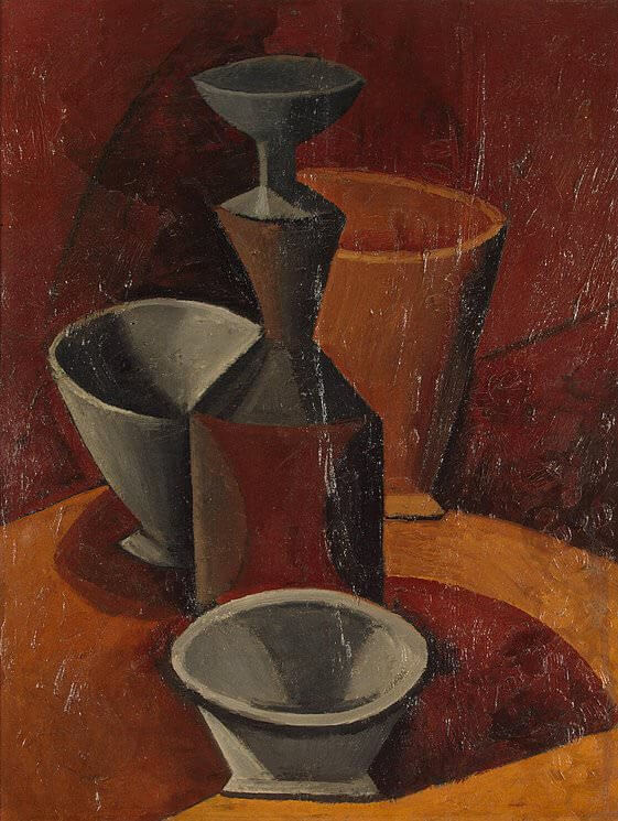 Carafe and Three Bowls, 1908 by Pablo Picasso