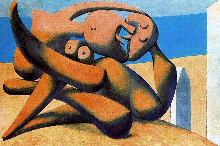 Figure At The Seaside, 1931 by Pablo Picasso