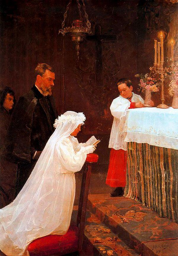 First Communion, 1896 by Pablo Picasso