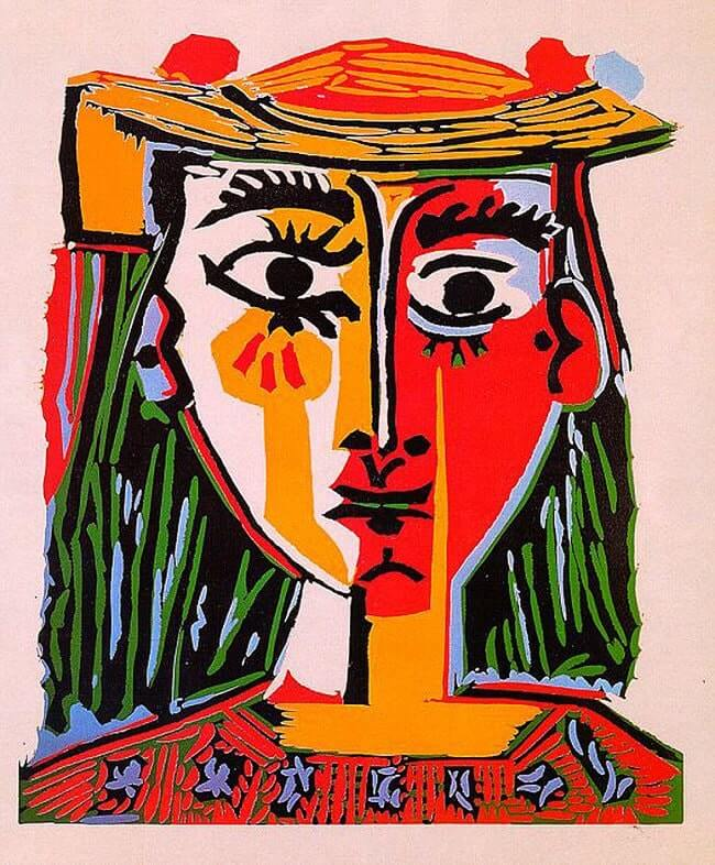 Head of a Woman in a Hat, 1962  by Pablo Picasso