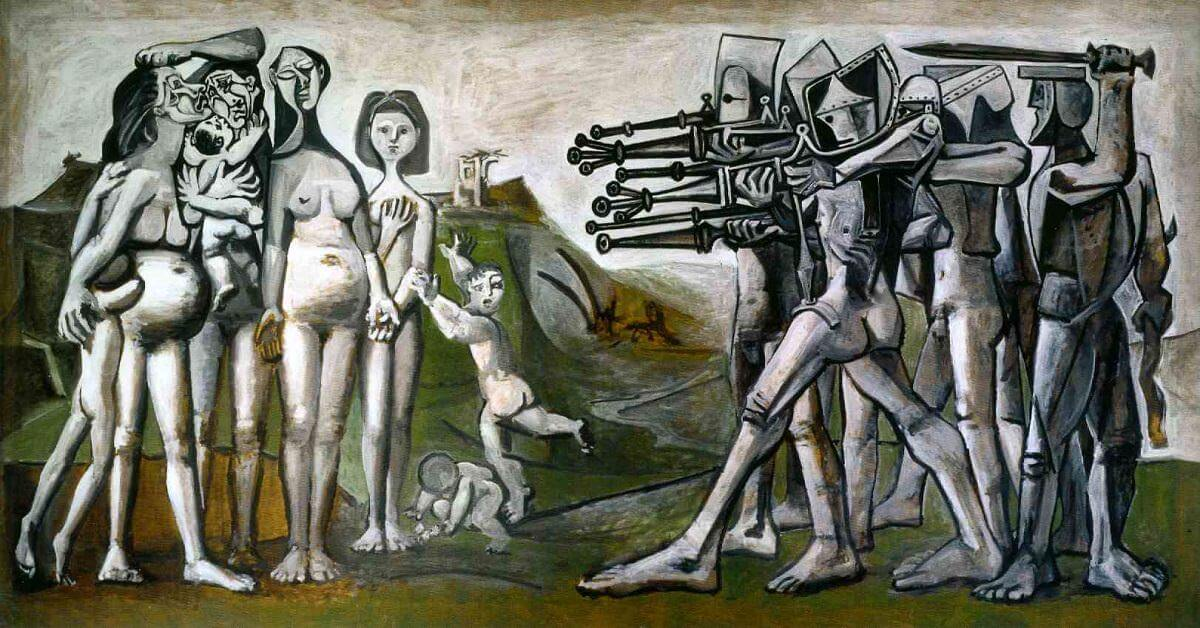 Massacre in Korea, 1951 by Pablo Picasso