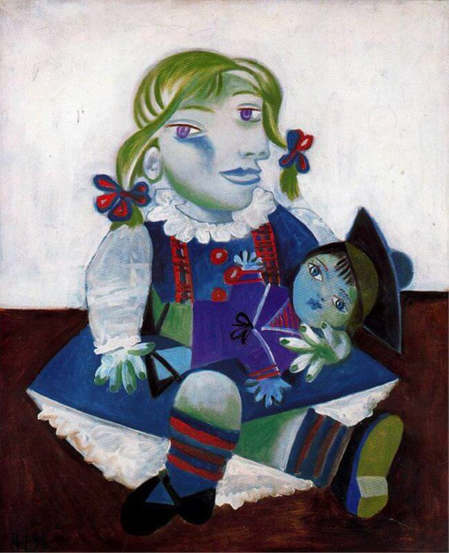 Maya with her Doll, 1938 by Pablo Picasso