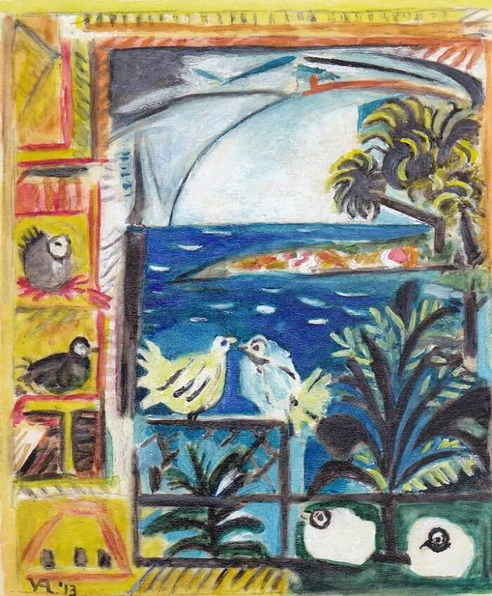 The Pigeons, Cannes, 1957 by Pablo Picasso